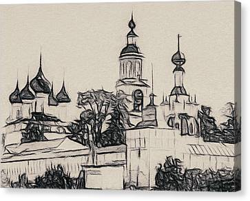 Church Outline Canvas Print by Yury Malkov