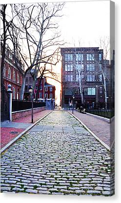 Church Street Cobblestones - Philadelphia Canvas Print by Bill Cannon