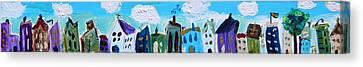 Church Street Canvas Print by Mary Carol Williams