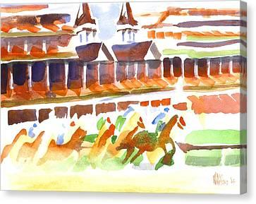 Churchill Downs Watercolor Canvas Print by Kip DeVore
