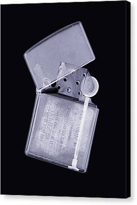 Cigarette Lighter, Simulated X-ray Canvas Print by Mark Sykes