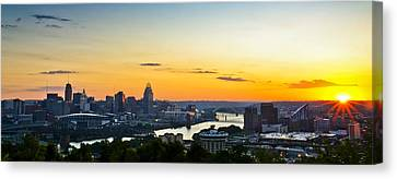 Cincinnati Sunrise II Canvas Print by Keith Allen