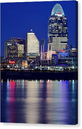 Cincinnati Take Two Canvas Print by Frozen in Time Fine Art Photography