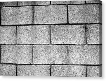 Cinder Block Wall Canvas Print by Jera Sky