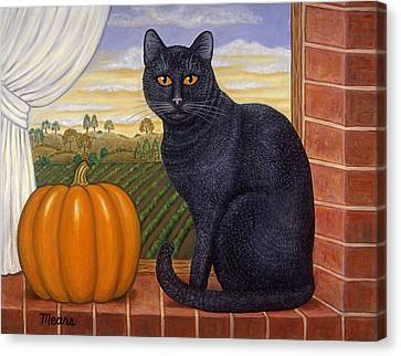 Cinder The Cat Canvas Print by Linda Mears