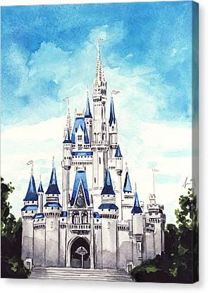 Cinderella's Castle Canvas Print by Laura Row