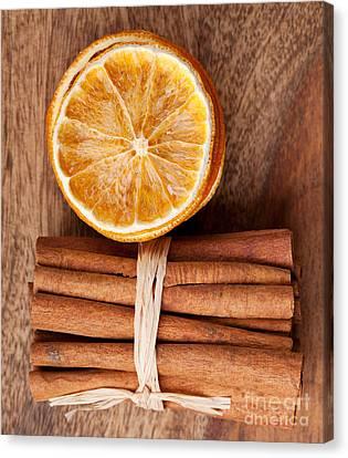 Cinnamon And Orange Canvas Print by Nailia Schwarz