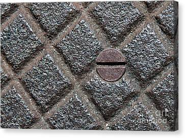 Circle And Squares Canvas Print by Dan Holm