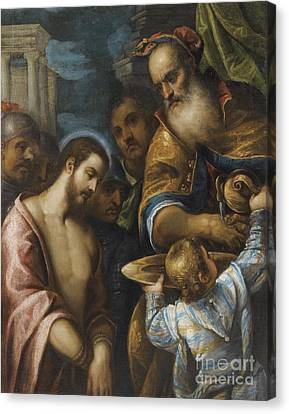 Circle Of Paolo Veronese Canvas Print by Celestial Images