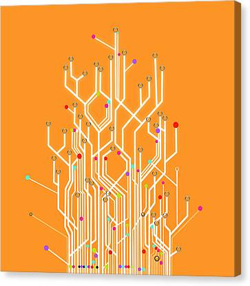 Circuit Board Graphic Canvas Print by Setsiri Silapasuwanchai