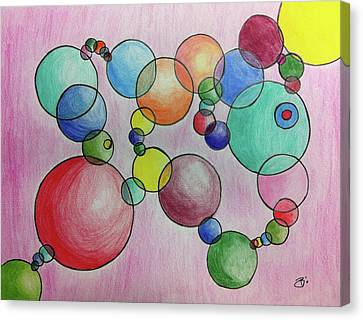 Circular Reasoning Canvas Print by Donna Blackhall