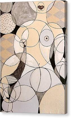Circularity Canvas Print by Joanne Claxton