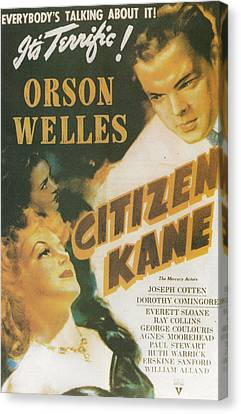 Citizen Kane - Orson Welles Canvas Print by Georgia Fowler