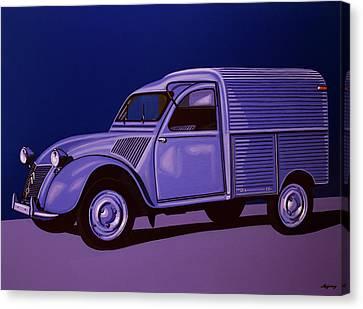 Citroen 2cv Azu 1957 Painting Canvas Print by Paul Meijering