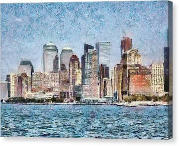 City - Ny - Manhattan Canvas Print by Mike Savad