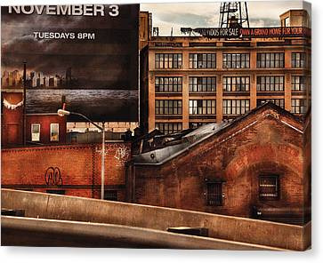 City - Ny - New York History Canvas Print by Mike Savad