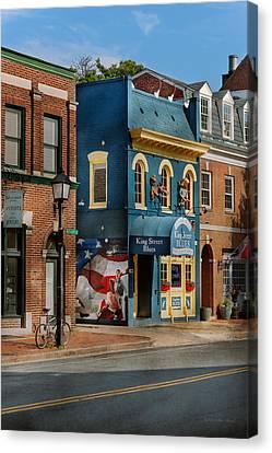 City - Alexandria, Va - King Street Blues Canvas Print by Mike Savad