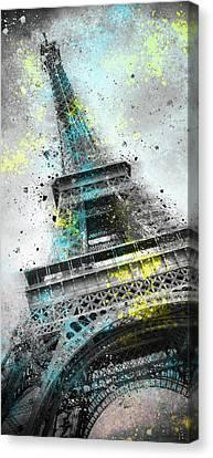 City-art Paris Eiffel Tower IIi Canvas Print by Melanie Viola