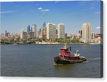 City - Camden Nj - The City Of Philadelphia Canvas Print by Mike Savad