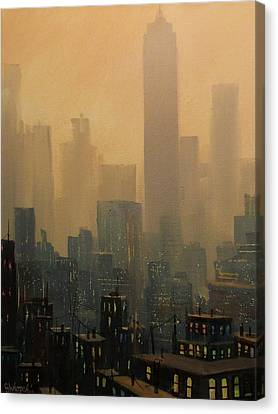 City Haze Canvas Print by Tom Shropshire