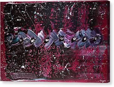 City Mix In Neons Canvas Print by Gaya Karapetyan