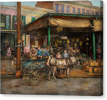 City - New Orleans La - Frankie And The Boys 1910 Canvas Print by Mike Savad