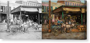City - New Orleans La - Frankie And The Boys 1910 - Side By Side Canvas Print by Mike Savad