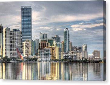 City Of Miami Canvas Print by William Wetmore