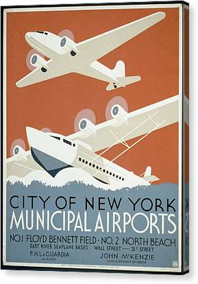 City Of New York Municipal Airports Canvas Print by Christopher DeNoon