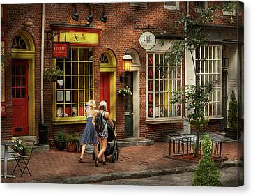 City - Philadelphia, Pa - A Day Out With My Baby Canvas Print by Mike Savad
