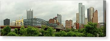 City - Pittsburgh Pa - The Grand City Of Pittsburg Canvas Print by Mike Savad