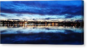 City Reflections Canvas Print by Tor  Johannessen