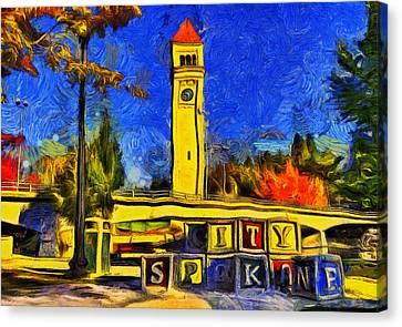 City Spokane - Riverfront Park Canvas Print by Mark Kiver