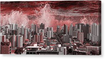 City Under Water Canvas Print by LoungeMode Production