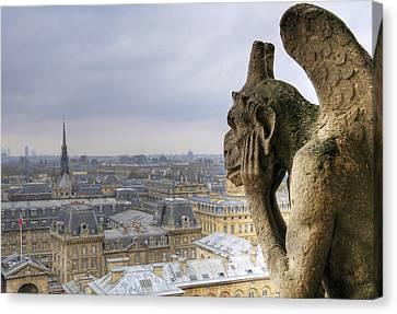 Cityscape From Notre Dame, Paris Canvas Print by Zens photo