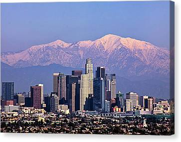 Cityscape, Los Angeles Canvas Print by Kenny Hung Photography