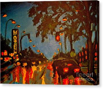 Cityscape Painting Canvas Print by John Malone