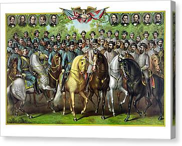 Civil War Generals And Statesman Canvas Print by War Is Hell Store