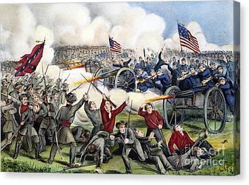Civil War: Gettysburg, 1863 Canvas Print by Granger
