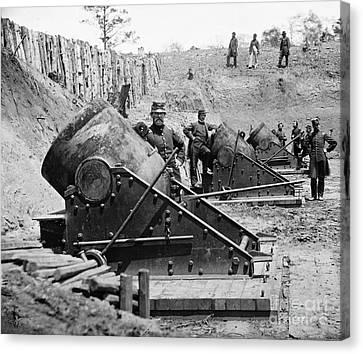 Civil War: Union Mortars Canvas Print by Granger
