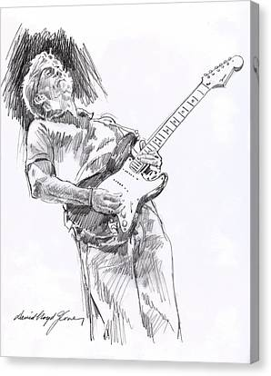 Clapron Blues Down Canvas Print by David Lloyd Glover