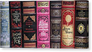 Classic English Literature Books Canvas Print by Tim Gainey