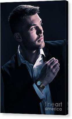 Classic Male Model Canvas Print by Amanda And Christopher Elwell