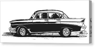 Classic Old Car Canvas Print by Edward Fielding