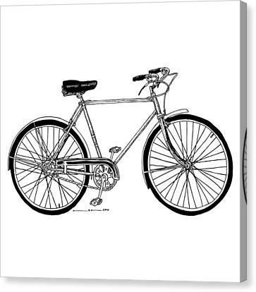 Doodle Art Canvas Print featuring the drawing Classic Road Bicycle  by Karl Addison