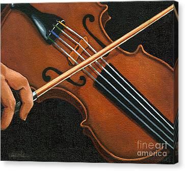 Classic Violin Canvas Print by Linda Apple