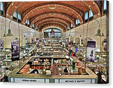 Classic Westside Market Canvas Print by Frozen in Time Fine Art Photography