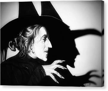 Classic Wicked Witch Of The West Canvas Print by Fred Larucci