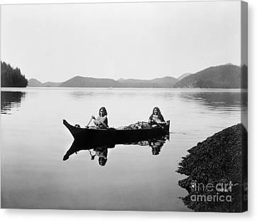 Clayoquot Canoe, C1910 Canvas Print by Granger