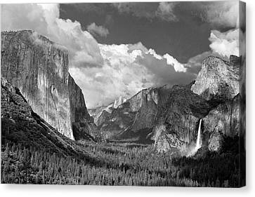 Clearing Skies Yosemite Valley Canvas Print by Tom and Pat Cory